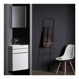 Lave Main Pour Wc : lave mains d 39 angle complet pour wc avec meuble design ~ Premium-room.com Idées de Décoration