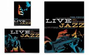 Brochure Download Template Jazz Music Event Flyer Ad Template Word Publisher