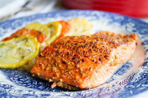 oven baked salmon saving room for dessert