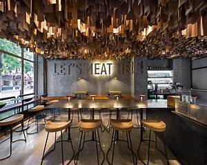 a modern burger joint in poltava ukraine design milk With kitchen cabinet trends 2018 combined with eiffel tower metal wall art