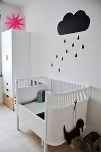 Decoration Murale Chambre Enfant : d co murale chambre b b avec nuage en peinture ~ Teatrodelosmanantiales.com Idées de Décoration