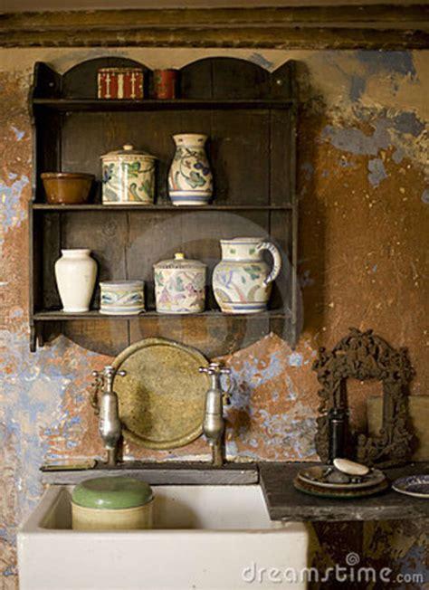 fashioned kitchen stock image image  pottery