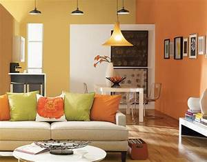 Wall color ideas in orange naturinspirierte design