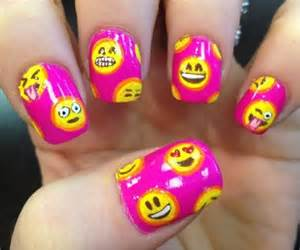 Emoji nail art designs nails and