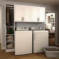 cabinets for laundry room Modifi Madison 75 in. W White Tower Storage Laundry Cabinet Kit-ENL75B-MPW - The Home Depot