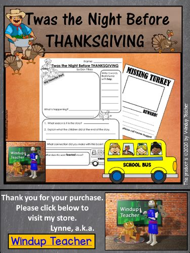 twas  night  thanksgiving activity sheets
