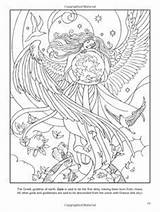 Coloring Goddess Wiccan Adult Pagan Triple Goddesses Adults Colorear God Template Crone Dibujos Gods Mother Sheets Designlooter Wings Pintar Dynu sketch template
