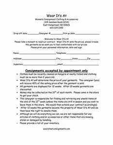 clothing consignment contract template scope of work With consignment shop contract template