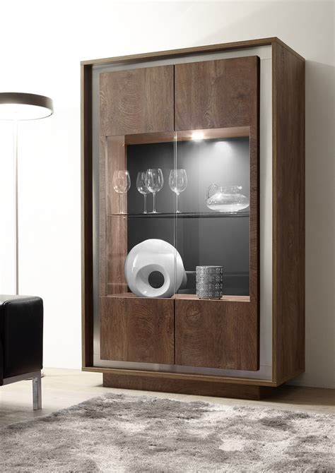 Display Cabinet Modern by Modern Display Cabinet In Oak Cognac Finish With