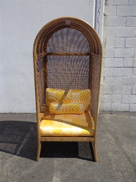dome canopy porter chair peacock fan vintage boho