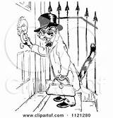Door Knocker Clipart Retro Using Cat Template Doorknocker Illustration Vector Royalty Coloring Pages Prawny sketch template