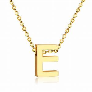 popular e letter necklace buy cheap e letter necklace lots With letter chain necklace