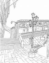 Coloring Pages Adult Venice Adults Books Drawing Italy Colouring Issuu Skyline Cities Perspective York Landmarks Romantic Famous Bridge Fairy Printable sketch template
