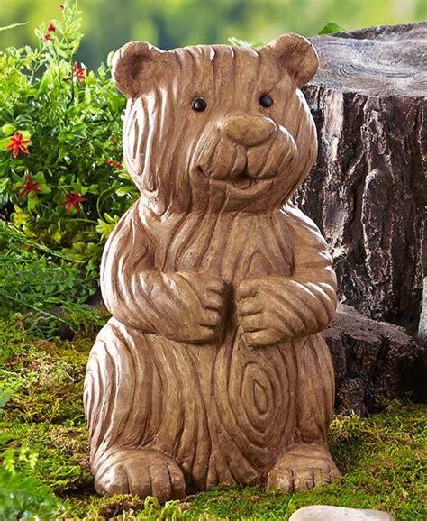 moose lawn ornament wood look moose garden statue sculpture lodge cabin yard new ebay