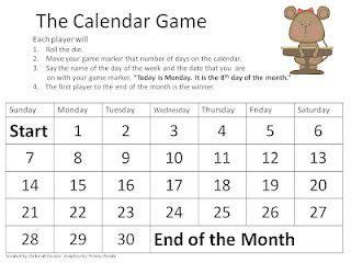 calendar game  images math word problems math