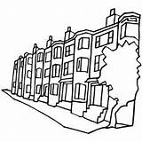 Apartment Buildings Coloring Printable Places Samples sketch template