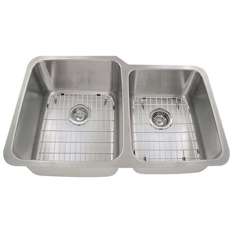 dual kitchen sink polaris sinks all in one undermount stainless steel 32 in 3479