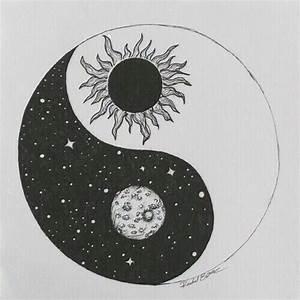 Sun And Moon Pencil Drawing
