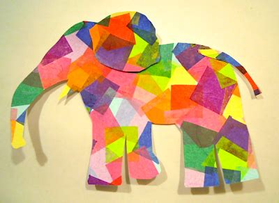 elephant crafts for preschool an elephant a day elephant no 148 tissue paper cutout 672