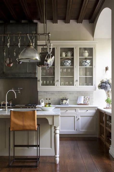 Kitchen with Gray Mini Brick Backsplash