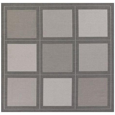 9 X 9 Outdoor Rug by Couristan Recife Summit Grey White 9 Ft X 9 Ft Square