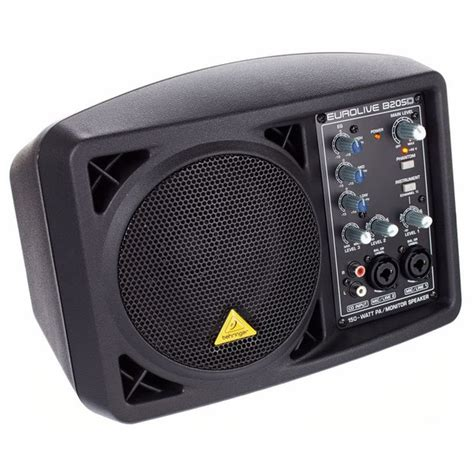 behringer b205d eurolive 150w active powered portable monitor pa speaker system ebay