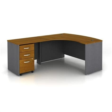bush business series c 3 piece left hand computer bow desk