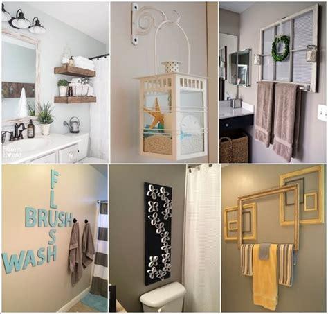 Home Decor Ideas Bathroom by 10 Creative Diy Bathroom Wall Decor Ideas