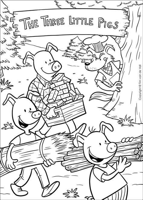Three Little Pigs Coloring Pages Three Little Pigs