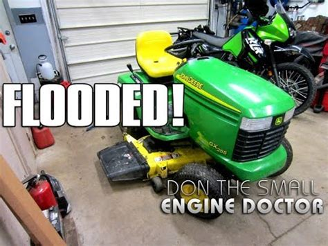why a deere lawn tractor kept flooding repair