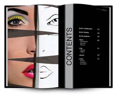 Brochure Design Software For Mac by M A C Make Up Brochure On Behance