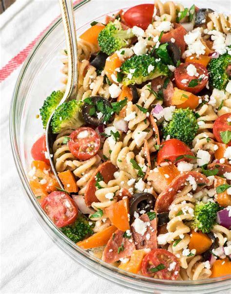recipe for a pasta salad healthy pepperoni pasta salad