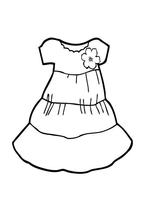 Dress Coloring Pages Coloring Pages Dress Coloring Pages Bestofcoloring