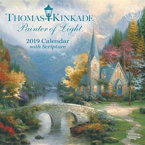 kinkade painter light scripture mini wall calendar