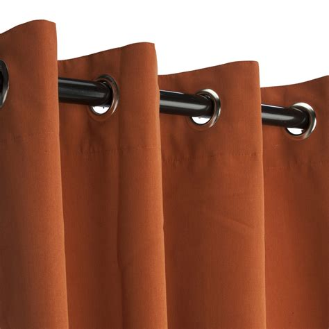 sunbrella curtains with grommets rust grommeted sunbrella outdoor curtains dfohome