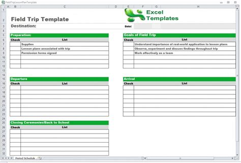 excel itinerary trip schedule template schedule template free