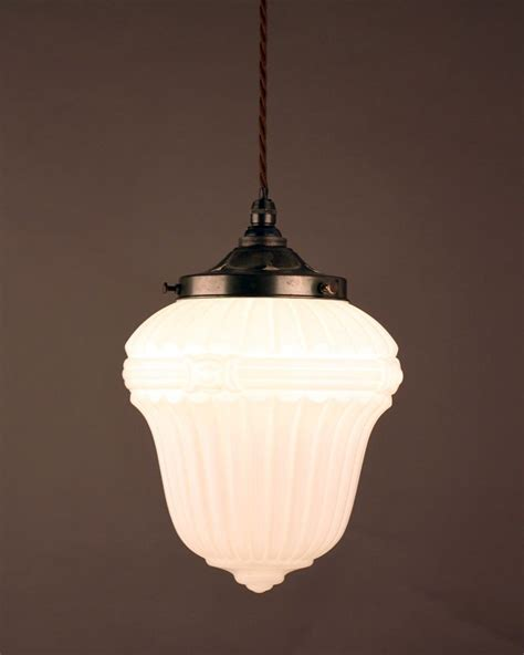 1930 s opal glass pendant light fritz fryer