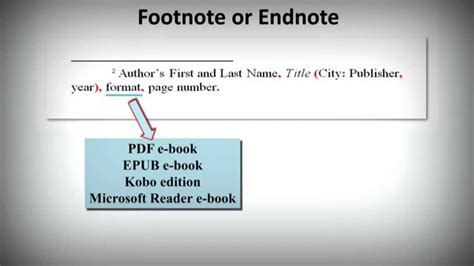 chicago notes bibliography style   cite ebooks