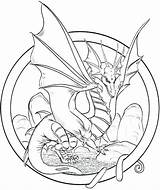Dragon Coloring Pages Adults Adult sketch template