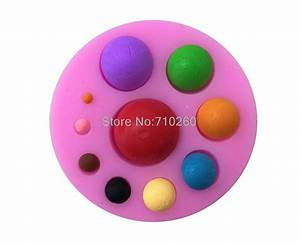 E173 Different Size Round Bead Shape 3D Silicone Cake Mold ...