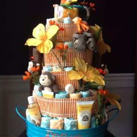 hawaiian theme baby shower diaper cake babyshower baby