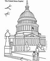 Capitol Building Coloring Pages Landmarks Places Sheets Around Colouring Printable Drawing Famous Historic Patriotic American Adult Buildings Sheet Usa Coloringpagesfortoddlers sketch template