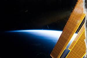Solar Array Panels and Earth's Horizon | NASA