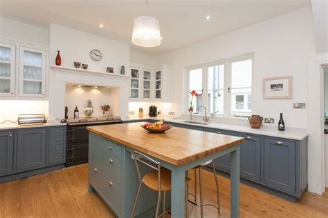 Cupboards For Kitchen by Grey And Green Shaker Kitchen