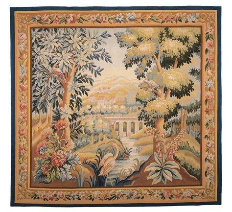 Aubusson Upholstery Fabric by Verdure Aubusson Handwoven Tapestry Luxury Tapestries