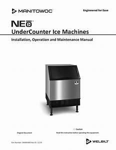 Manitowoc Neo U Model Undercounter Installation Manual