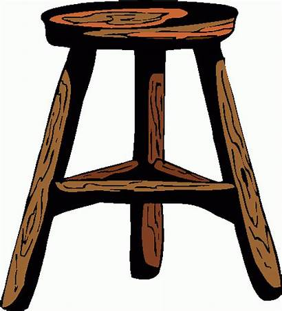 Stool Clipart Legged Three Clip Cliparts Table