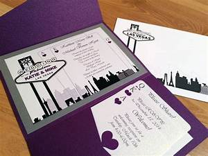 Elegant las vegas themed wedding invitation custom colors for Las vegas inspired wedding invitations
