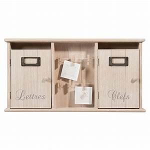 Boîte à Clés : bo te cl s courrier en bois brocante maisons du monde ~ Teatrodelosmanantiales.com Idées de Décoration