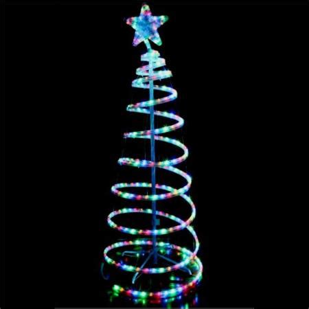 led multi colour rope light  spiral christmas tree